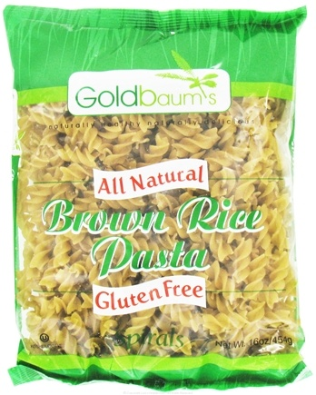 DROPPED: Goldbaum's - All Natural Brown Rice Pasta Gluten Free Spirals - 16 oz.