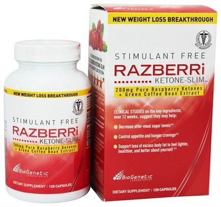 DROPPED: BioGenetic Laboratories - Razberri Ketone-Slim with Green Coffee Bean Extract 200 mg. - 120 Capsules