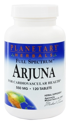 Planetary Herbals - Arjuna Full Spectrum 550 mg. - 120 Tablets
