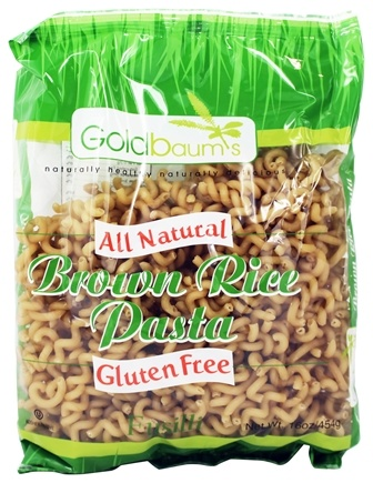 DROPPED: Goldbaum's - All Natural Brown Rice Pasta Gluten Free Fusilli - 16 oz.