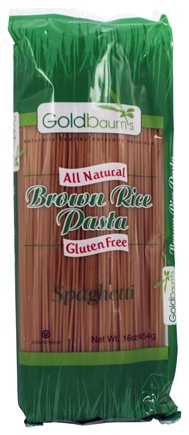 DROPPED: Goldbaum's - All Natural Brown Rice Pasta Gluten Free Spaghetti - 16 oz.