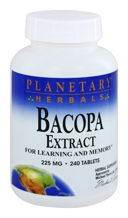 Planetary Herbals - Bacopa Extract 225 mg. - 240 Tablets