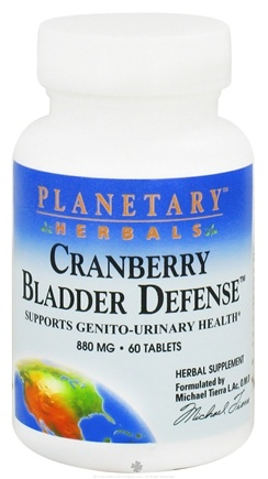 DROPPED: Planetary Herbals - Cranberry Bladder Defense 880 mg. - 60 Tablets CLEARANCE PRICED