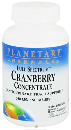 DROPPED: Planetary Herbals - Cranberry Extract Full Spectrum 560 mg. - 90 Tablets CLEARANCE PRICED