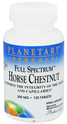 DROPPED: Planetary Herbals - Horse Chestnut Full Spectrum 300 mg. - 120 Tablets