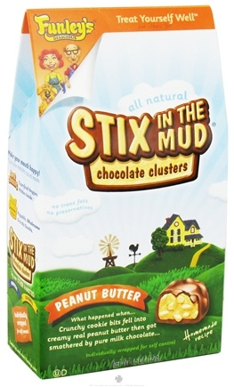 DROPPED: Funley's - All Natural Stix In The Mud Chocolate Clusters Peanut Butter - 4.5 oz.