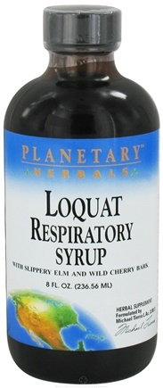 DROPPED: Planetary Herbals - Loquat Respiratory Syrup - 8 oz. CLEARANCE PRICED