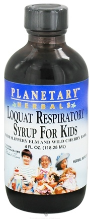 DROPPED: Planetary Herbals - Loquat Respiratory Syrup For Kids - 4 oz. CLEARANCE PRICED