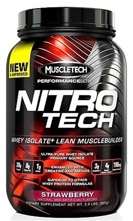 DROPPED: Muscletech Products - Nitro Tech Performance Series Whey Isolate Strawberry - 2 lbs.