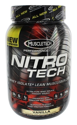 DROPPED: Muscletech Products - Nitro Tech Performance Series Whey Isolate Vanilla - 2 lbs. CLEARANCE PRICED