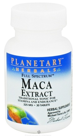 DROPPED: Planetary Herbals - Maca Extract Full Spectrum 325 mg. - 30 Tablets CLEARANCE PRICED