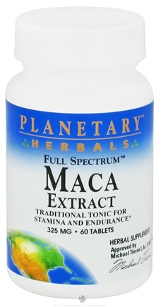 DROPPED: Planetary Herbals - Maca Extract Full Spectrum 325 mg. - 60 Tablets CLEARANCE PRICED