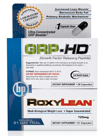 DROPPED: BPI Sports - GRP-HD & RoxyLean Stack Lean Trial Combo