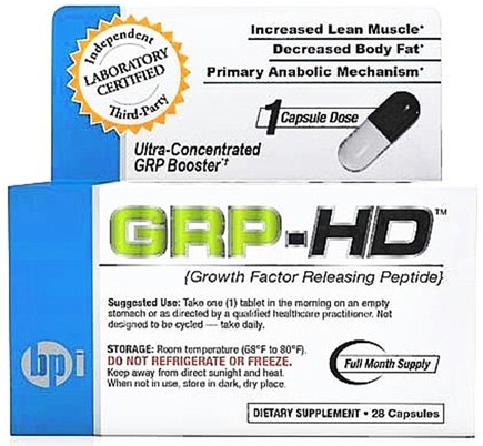 DROPPED: BPI Sports - GRP-HD Growth Factor Releasing Peptide - 28 Capsules CLEARANCE PRICED
