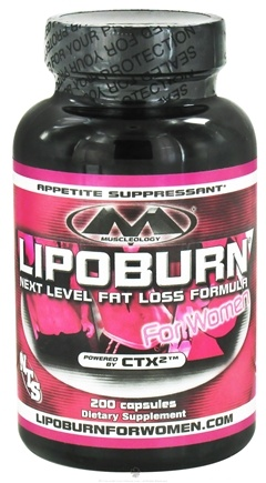 DROPPED: Muscleology - Lipoburn Next Level Fat Loss Formula For Women - 200 Capsules