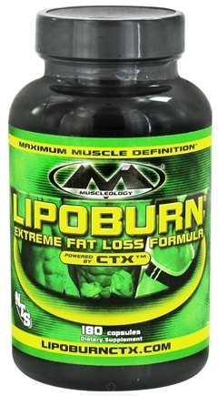 DROPPED: Muscleology - Lipoburn Extreme Fat Loss Formula - 180 Capsules