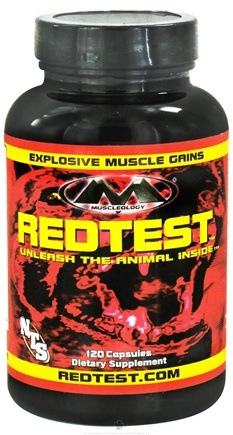 DROPPED: Muscleology - RedTest Testosterone Enhancement Compound - 120 Capsules CLEARANCE PRICED