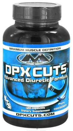 DROPPED: Muscleology - DPX Cuts Advanced Diruetic Formula - 120 Capsules CLEARANCE PRICED