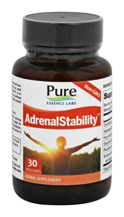 DROPPED: Pure Essence Labs - AdrenalEssence - 30 Vegetarian Capsules CLEARANCE PRICED