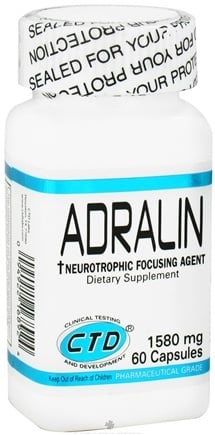 DROPPED: CTD Labs - Adralin Neurotrophic Focusing Agent 1580 mg. - 60 Capsules