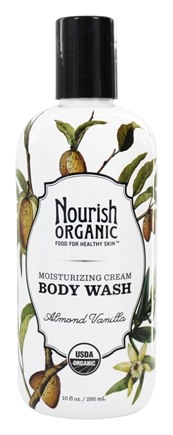 Nourish - Organic Body Wash Almond Vanilla - 10 oz.