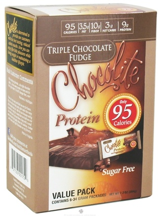 DROPPED: Healthsmart Foods - Chocolite Sugar Free Chocolates Value Pack Triple Chocolate Fudge - 6 Pack(s)
