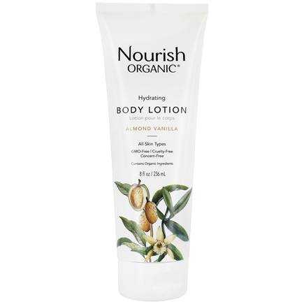 Nourish - Organic Body Lotion Almond Vanilla - 8 oz. LUCKY PRICE