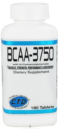 DROPPED: CTD Labs - BCAA-3750 wit N-Carbamylglutamate - 180 Capsules CLEARANCE PRICED