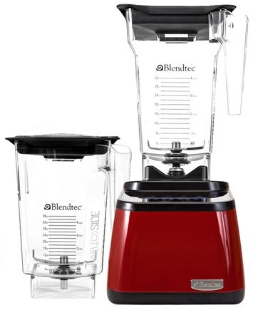 DROPPED: Blendtec - Designer Series FourSide WildSide Combo Tabletop Home Blender DD28PA04A-B1PR1A00 Red