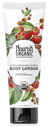 DROPPED: Nourish - Organic Body Lotion Wild Berries - 8 oz. CLEARANCE PRICED