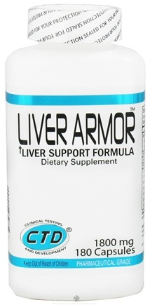 DROPPED: CTD Labs - Liver Armor 1800 mg. - 180 Capsules CLEARANCE PRICED