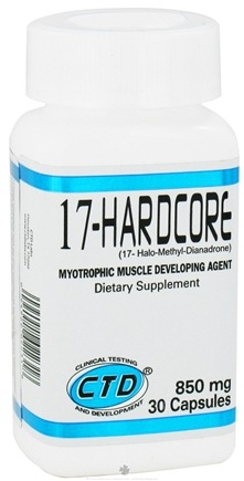 DROPPED: CTD Labs - 17-Hardcore Myotrophic Muscle Developing Agent - 30 Capsules CLEARANCE PRICED