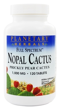 Planetary Herbals - Nopal Cactus Full Spectrum 1000 mg. - 120 Tablets