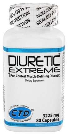 DROPPED: CTD Labs - Diuretic Extreme Pre-Contest Muscle Defining Diuretic 3225 mg. - 80 Capsules