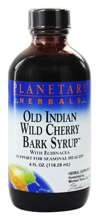 DROPPED: Planetary Herbals - Old Indian Wild Cherry Bark Syrup With Echinacea - 4 oz.