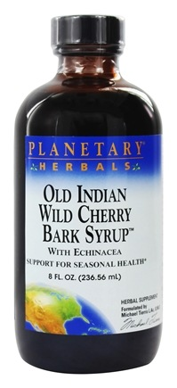 Planetary Herbals - Old Indian Wild Cherry Bark Syrup With Echinacea - 8 oz.