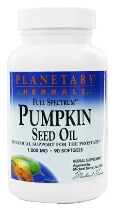 Planetary Herbals - Full Spectrum Pumpkin Seed Oil Prostate Support 1000 mg. - 90 Softgels