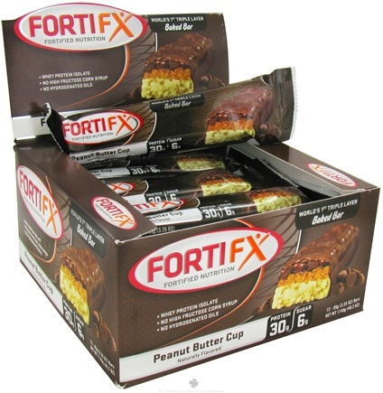 DROPPED: Fortifx - Triple Layer Baked Bar Peanut Butter Cup - 95 Grams