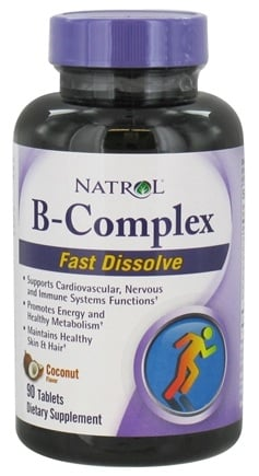 DROPPED: Natrol - B-Complex Fast Dissolve Coconut - 90 Tablets