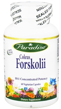DROPPED: Paradise Herbs - Coleus Forskolii 10:1 Concentrated Potency - 60 Vegetarian Capsules