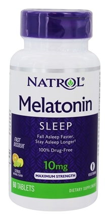 Natrol - Melatonin Fast Dissolve Strawberry Flavor 10 mg. - 60 Tablets