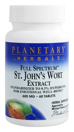 DROPPED: Planetary Herbals - St. John's Wort Extract Full Spectrum 600 mg. - 60 Tablets