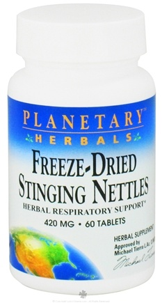DROPPED: Planetary Herbals - Stinging Nettles Freeze-Dried 420 mg. - 60 Tablets CLEARANCE PRICED