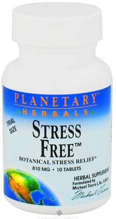 DROPPED: Planetary Herbals - Stress Free 810 mg. - 10 Tablets CLEARANCE PRICED