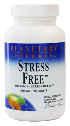 DROPPED: Planetary Herbals - Stress Free 810 mg. - 90 Tablets
