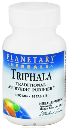 DROPPED: Planetary Herbals - Triphala Ayurvedic Purifier 1000 mg. - 15 Tablets CLEARANCE PRICED