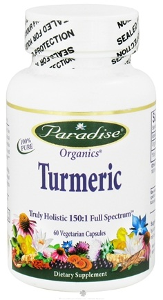 DROPPED: Paradise Herbs - Organics Turmeric Truly Holistic 150:1 Full Spectrum - 60 Vegetarian Capsules CLEARANCE PRICED