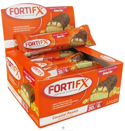 DROPPED: Fortifx - Triple Layer Baked Bar Caramel Peanut - 95 Grams