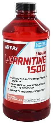 MET-Rx - L-Carnitine Liquid 1500 Natural Watermelon - 16 oz.
