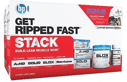 DROPPED: BPI Sports - Get Ripped Fast Stack - CLEARANCE PRICED